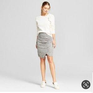 ⭐4for20⭐ NWT Knit Wrap Skirt Heather Grey XS